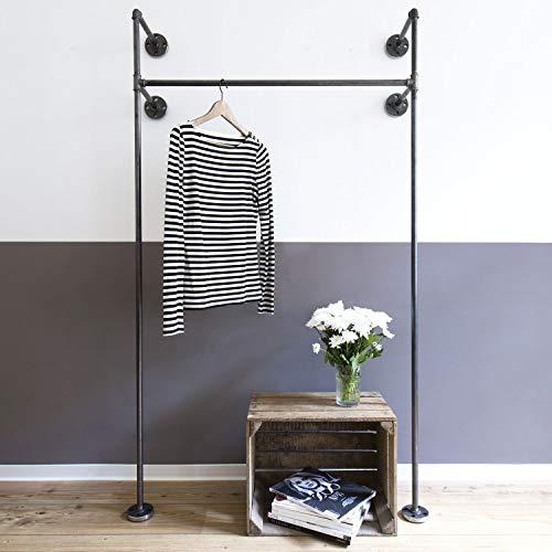Offener Kleiderschrank Mono HIGH, Industrial Design aus Wasserrohr, Garderobenschränke aus...