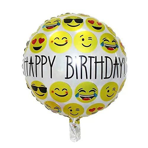 DioKlen - 3pcs Emoji Ballon 18-Zoll-Folienballon heiße Blase Ballons Partei Dekoration zu Hause Kinder