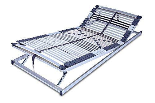 MSS 700120-200.100.7 7 Zonen-Lattenrost Trioflex KF, Kopf- und Fußteil verstellbar, 44 Leisten, Mittelgurt, 9-fach einstellbare Härte, 100 x 200 cm