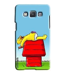Omnam Mario Closeup Printed Designer Back Cover Case For Samsung Galaxy A7