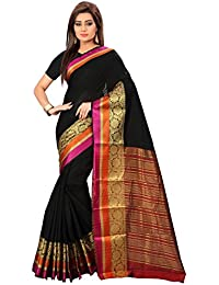 JULEE Women's Cotton Art Silk Saree Kanjivaram Style Saree (Free Size_cream)