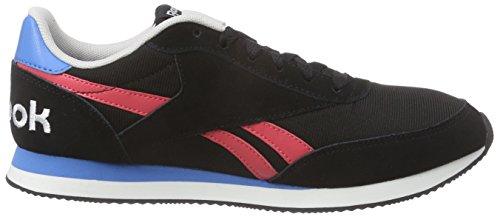 Reebok Royal Classic Jogger 2rs, Chaussures de Course Femme Noir - Schwarz (Black/Fearless Pink/Ele Blue/Steel/White)