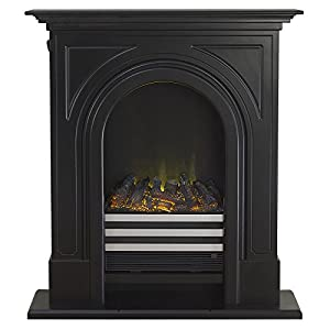 Adam Durham Electric Fireplace Suite Cast Effect, 2000 Watt, Black