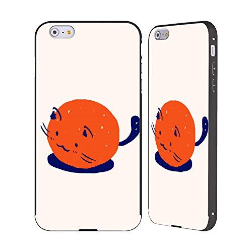 Ufficiale Kitten Rain Piccolo Gatti Nero Cover Contorno con Bumper in Alluminio per Apple iPhone 6 Plus / 6s Plus Arancione