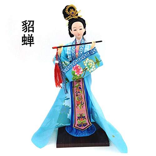Chinesischen Stil Puppe Skulptur, Peking Opera Maske Statue,Mini-Desktop-Skulptur, Volkskunst, SammlerstüCke, Gericht Geschenke (13,5 X 13 X 31 cm),DDCYY-01 -