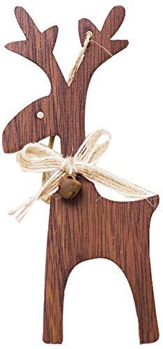 Screenes Christbaum Glocken Weihnachten Deko Hirsch Hirsch Rentier Elch Einfacher Stil Christbaumkugeln Geschenke Christbaum Anhänger Klein Rehe Christmas Garten Täglich Gebrauch Produk