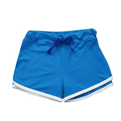 TWIFER Sommer Hosen Sport Shorts Damen Fitness Workout Bund Dünne Yoga Elastische Hose -