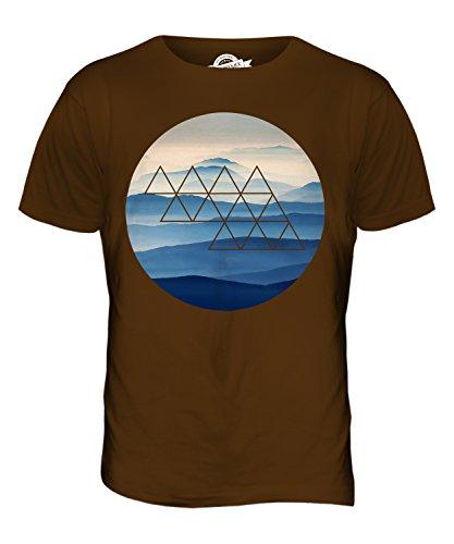 CandyMix Nebligen Bergen Herren T Shirt Braun