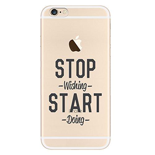 iPhone 6S Motif écritures Coque en silicone TPU Coque ultra adünnen Case pour iPhone 6/6S zt5