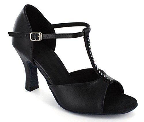 TDA ,  Damen Tanzschuhe Black Leather