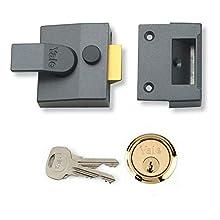 Yale B-84-DMG-SC-40 Standard Nightlatch, Standard Security, Dark Metallic Finish/Chrome Cylinder, 40 mm Backset