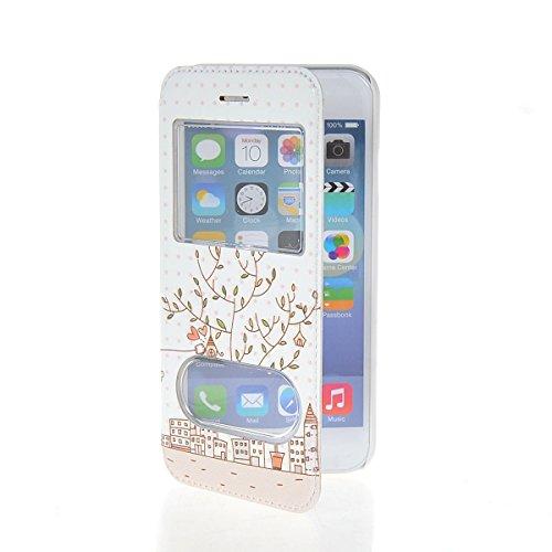 MOONCASE Coque en Cuir Housse de Protection Étui à rabat Case pour Apple iPhone 6 Plus A18138
