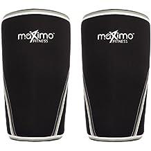 Rodilleras (1 par) - 7 mm de Neopreno Knee Sleeves - Soporte y Compresión para CrossFit, Levantamiento de Pesas, Running y otros deportes. Tanto para hombres como para mujeres - Garantía de por vida.