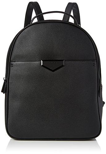ALDO Damen Hughson Rucksack, Schwarz (Black Leather), 12x37x28 cm
