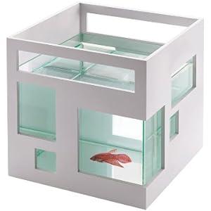 [Gesponsert]Umbra 460410-660 Fishhotel Aquarium, weiß