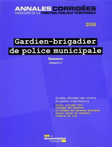 Gardien-brigadier de police municipale : Concours externe catégorie C