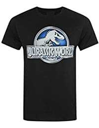 Official Jurassic World (Parc Jurassique) - Métallique Logo - T-Shirt Officiel Homme