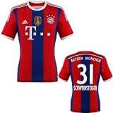 FC Bayern Schweinsteiger Trikot Home 2015 WC, M