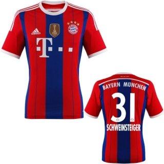 FC Bayern Schweinsteiger Trikot Home 2015 WC, XL