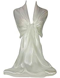 Chal de marca auténtica GFM®, irisado, brillante, ideal para noche, bodas, fiestas, graduaciones, damas de honor, novias