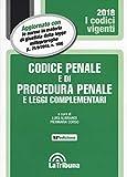 Codice penale e di procedura penale e leggi complementari. Con Agenda legale penale 2019. Ediz. blu