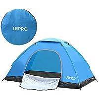 URPRO tienda de campaña automática instantánea, 2 personas, ligera, resistente al viento, protección UV, perfecta para la playa, al aire libre, viajes, senderismo, camping, caza, pesca, etc.