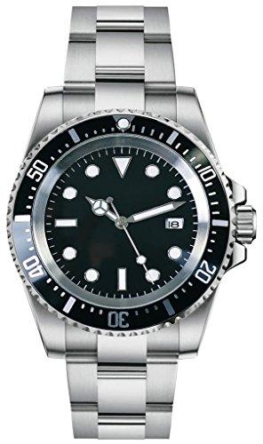 PARNIS 2038 sportliche 44mm Herren-Automatikuhr Markenuhrwerk MZ2804 Mineralglas 316L Edelstahl-Gehäuse und Armband 5 Bar wasserdicht