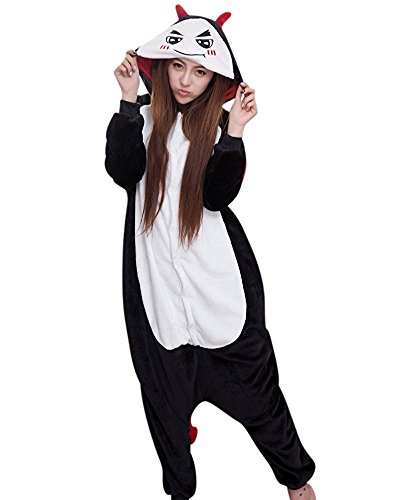 ABYED® Jumpsuit Tier Karton Fasching Halloween Kostüm Sleepsuit Cosplay Fleece-Overall Pyjama Schlafanzug Erwachsene Unisex Lounge,Erwachsene Größe S - für Höhe 150-158cm (Schöne Kostüme Halloween)