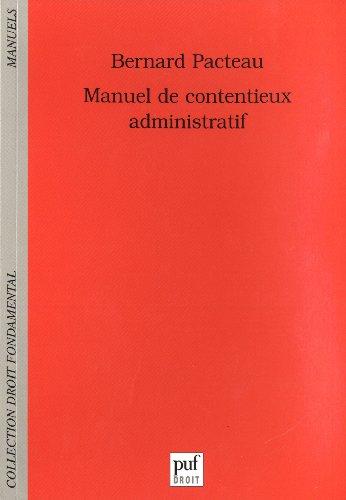 Manuel de contentieux administratif