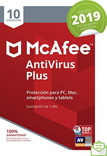 McAfee AntiVirus Plus 2019 - Antivirus, PC/Mac/Android/Smartphones,