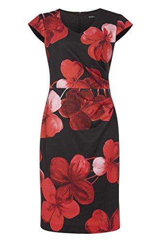 Roman Originals Femme Robe Femme Flatteuse Floral Tailles 38-50 Rouge Noir