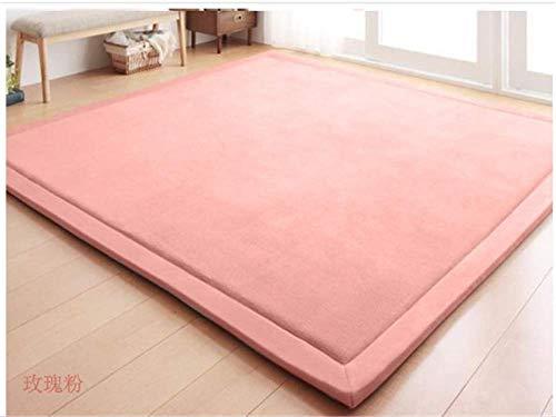 GRENSS Dicker Teppich Coral Fleece Japan Wohnzimmer Teppich großen Bett Matratze Polster verdicken Fleece Kaffee Tisch Teppich Schlafzimmer Teppiche, rosa, 240 von 200 cm. (Coral Tisch)