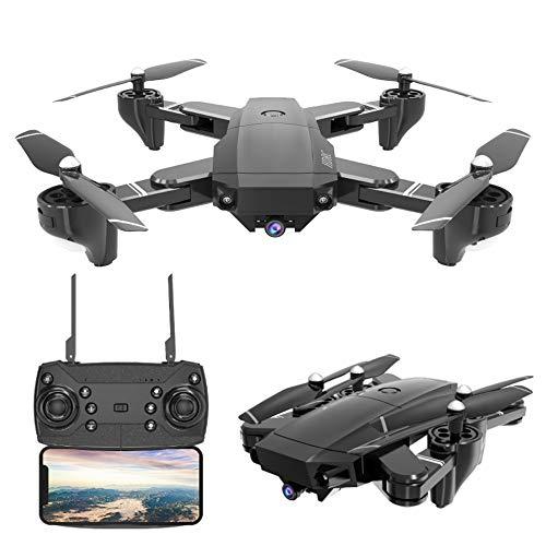 Linbing123 Drohnen mit Kamera, WiFi FPV Live Video Quadcopter mit 120 ° FOV 1080P HD-Kamera, Faltbarer RC-Drohne RTF - Höhenlage halten, 3D-Flip, APP-Steuerung - Herunterladen Mobile-app
