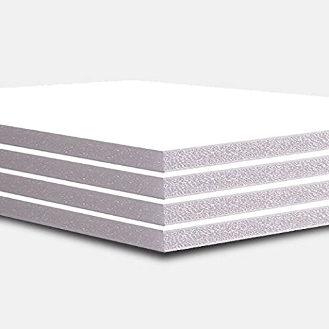 A2 Size 5mm White Foam Board Pack of 10 ( Strong and High Quality) Size 420x594mm