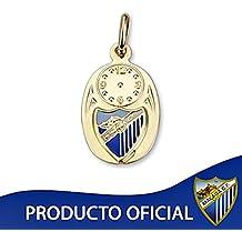 Colgante medalla escudo Málaga CF oro de ley 9k bebé 15mm. [8732]