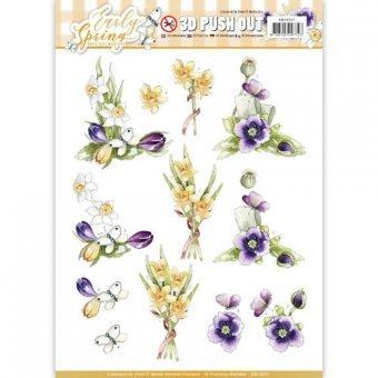 Find It 3D-Stanzbogen - Precious Marieke - Early Spring - Osterglocken & Krokusse