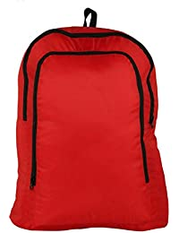 Foldable Luggage Packing Back Pack Bags 2 Storage Unisex Bag Water Proof Bag - Red