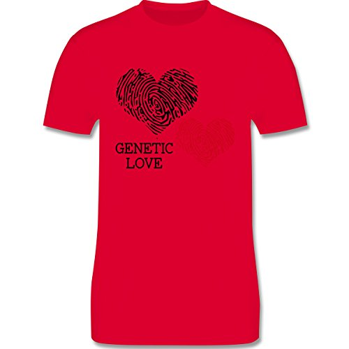 Romantisch - Genetic Love Fingerabdruck - Herren Premium T-Shirt Rot