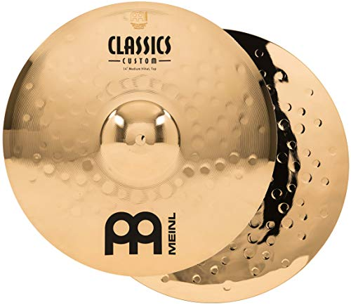 Meinl Cymbals CC14MH-B Classics Custom Serie 35,56cm (14 Zoll) HiHat Becken Paar Medium Brilliant Finish