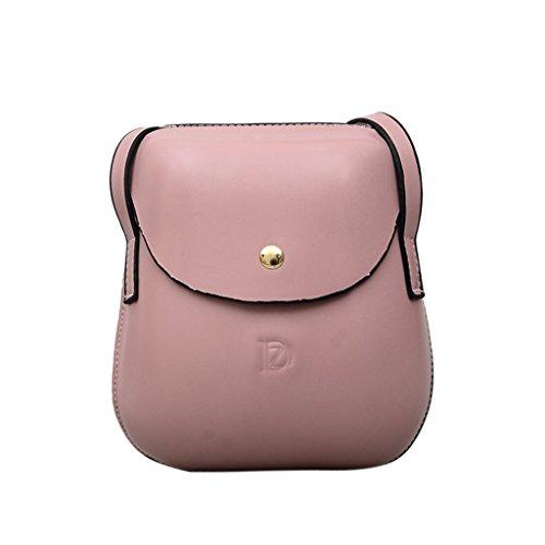 Kofun Frauentasche, Frauen Mini Handtasche Geldbörse Geldbörse Tasche Handy Schultertasche Fall Rose