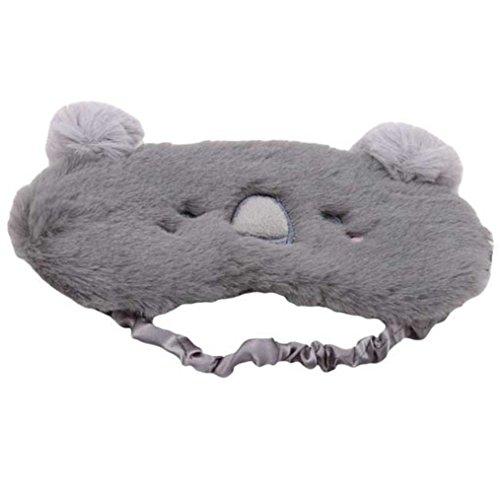 ODN Cartoon Augenmaske Schlaf Schatten atmungsaktiv Persönlichkeit Brille Tragbare Weiche Reise Schlafhilfe Blackout Brille Ohne Eisbeutel (Koala)