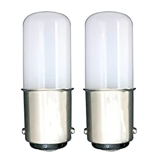 MZMing [2 Pcs Small Type B15 Energy Saving LED Bulb 1.5W Replaceable 15W Halogen Bulb Warm White Light 2700K Inside The Bayonet 4 LED 120lm-Not Dimmable Low Heat Used for Refrigerator/Sewing Machines