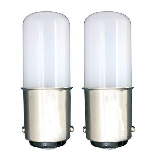 [2 Stück] Kleines Bajonett B15 LED Energiespar Birne 1.5w Einfach zu Ersetzen 15w Halogenbirne Schönes Helles KÜHlesweißes Licht 6000k AC220-240v Lumen120 Panorama 360° Blickwinkel- Kalorienarm Verwendet für Kühlschrank / Nähmaschine /Raucher Maschine / Abluftventilator