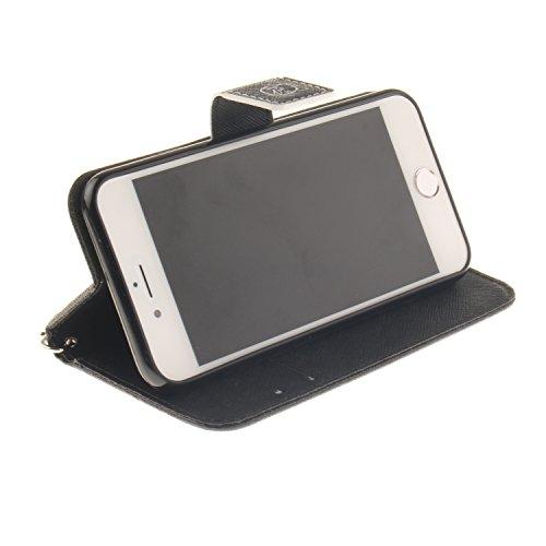 iPhone 7 iPhone 8 4.7 Cover,MAGQI Custodia Wallet in Pelle Alta Qualità Sottile PU Copertura del Portafoglio Folio Skin Protettivo Conchiglia Case per iPhone 7 / 8 - Mandala Colorato Dont touch my phone
