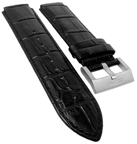 Esprit Ersatzband Leder Band schwarz für Grand Legend Armbanduhr ES101911