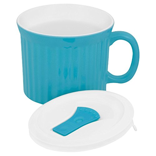 Corningware-becher (Corningware Colours Pop-Ins Pool 20-oz Mug w/ Lid by CorningWare)