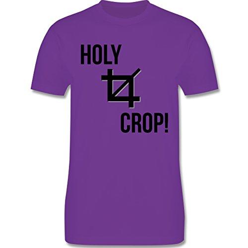 Designer - Holy Crop - Herren Premium T-Shirt Lila
