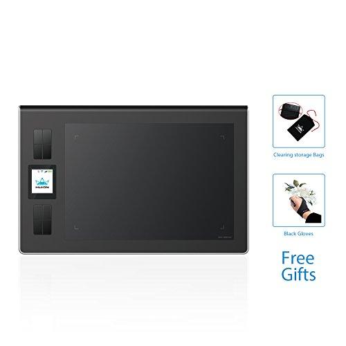 HUION DWH69 5080líneas por pulgada 228 x 152mm USB Negro tableta digitalizadora - Tableta gráfica (Alámbrico, 228 x 152 mm, USB, 1,02 cm, Pluma, 233 pps)