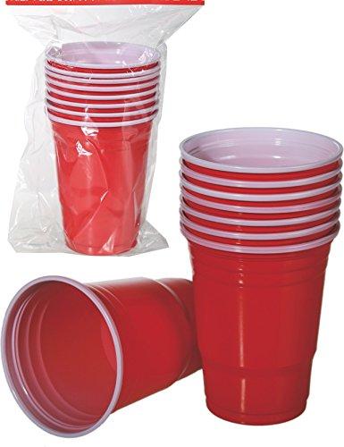 Lot de 8 assiettes en plastique de Style américain Beer Pong tasses Partie essentielle de l'article 79/3938
