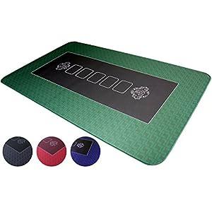 Bullets Playing Cards Alfombra de póker Profesional de 100 x 60 cm Propia Mesa de póker – Alfombrilla de póker de Lujo – Alfombra de póker – Recubrimiento para la Mesa para Jugar al póker